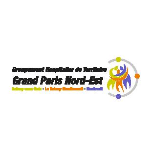 Logo du groupe hospitalier de territoire grand paris nord-est