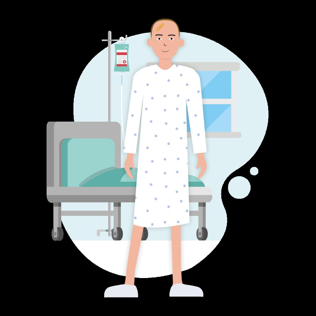 Un patient en cours d'hospitalisation