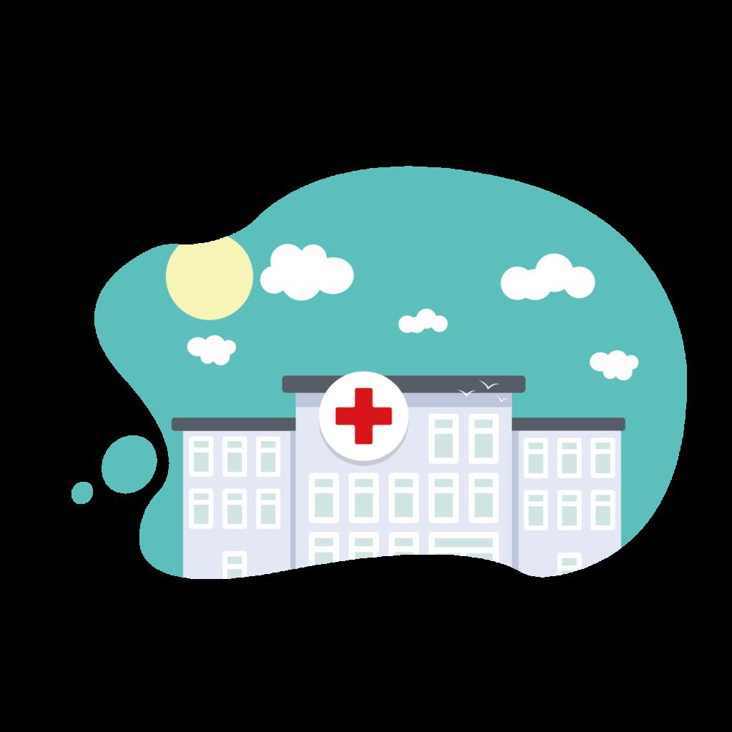 Centre de soins ou hôpital secteur sanitaire