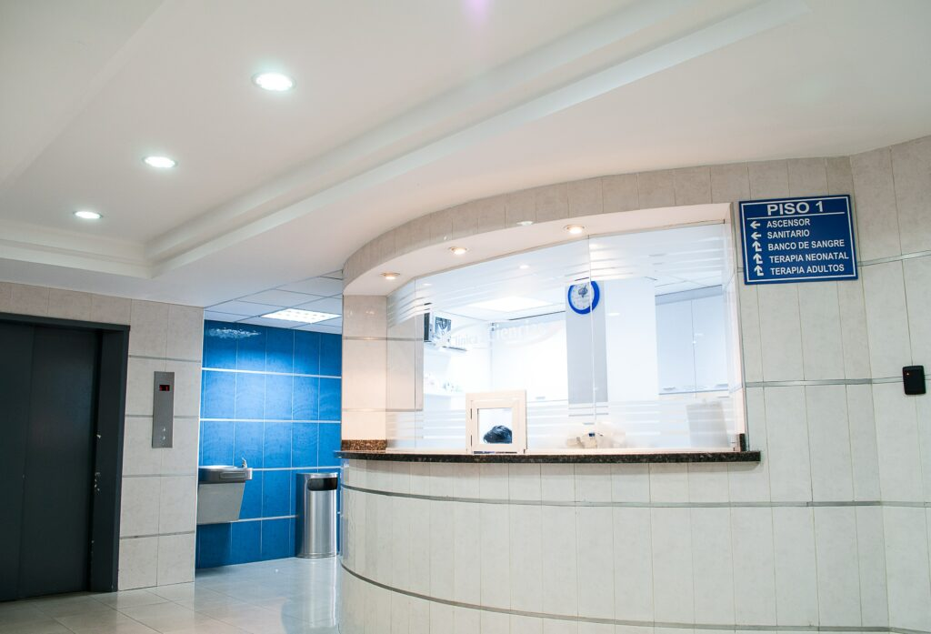 Réception d'hôpital